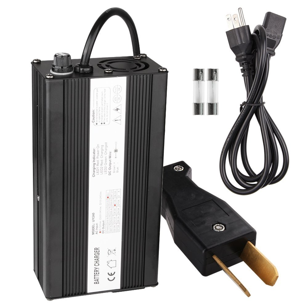 get quotations · ezgo charger, enk 36 volt 5 amps golf cart charger with  crowfoot connector, 36v
