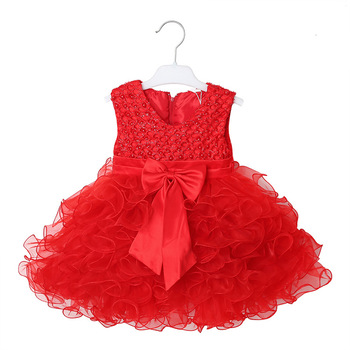 high quality wholesale custom fairy design fashion kids party birthday evening frock child little princess dress for baby girl