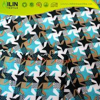 T-shirt 4 way stretch fabric polyester spandex print fabric