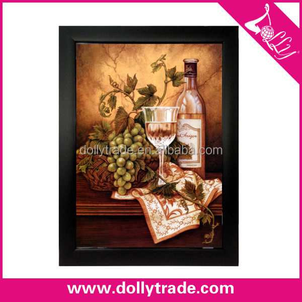 Custom abstract still life wine and grape picture oil painting on canvas