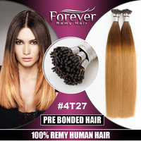 Forever Fast shiping Full cutical cheap 8 to 30 inch 100 Brazilian remy human ombre pre bonded hair extensions