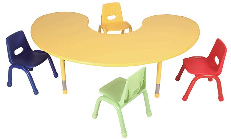 Color Nursery School Furniture Desk And