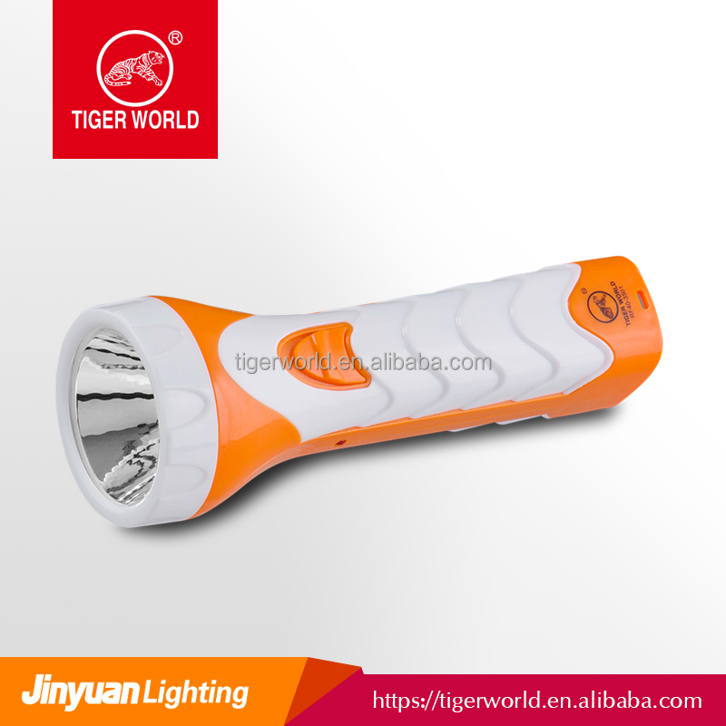 hot selling tiger world brand rechargeable led flashlight