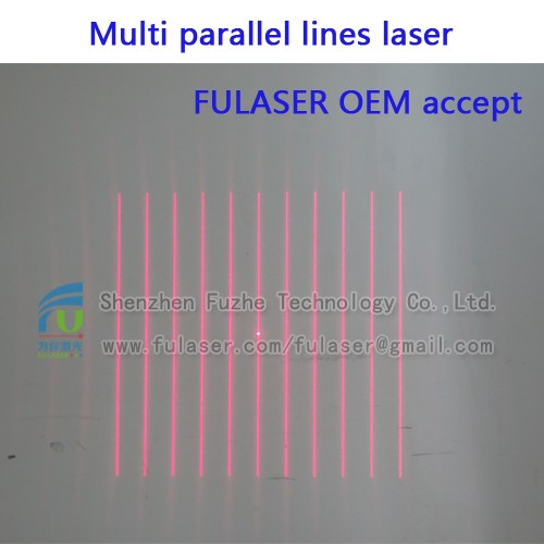 FU65011PXX100-GD16 Diffractive optical elements(DOE) 11 multi line <strong>laser</strong> parallel line <strong>laser</strong> pattern with adjustable focus