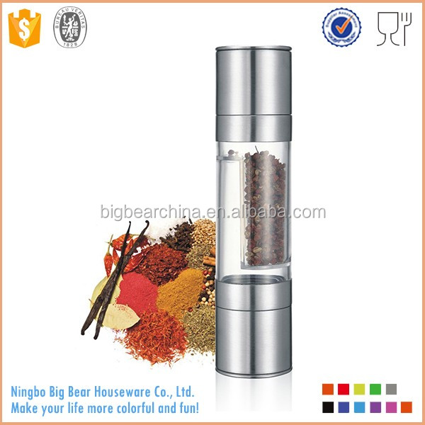 2 in 1 pepper and salt grinder