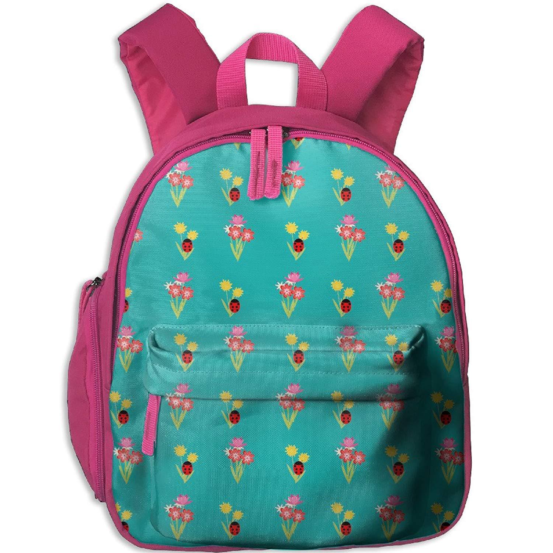 f768fbc654 Get Quotations · Floral Pattern Ladybug Toddler Kids Backpack Preschool  Backpack Navy Mini Backpack