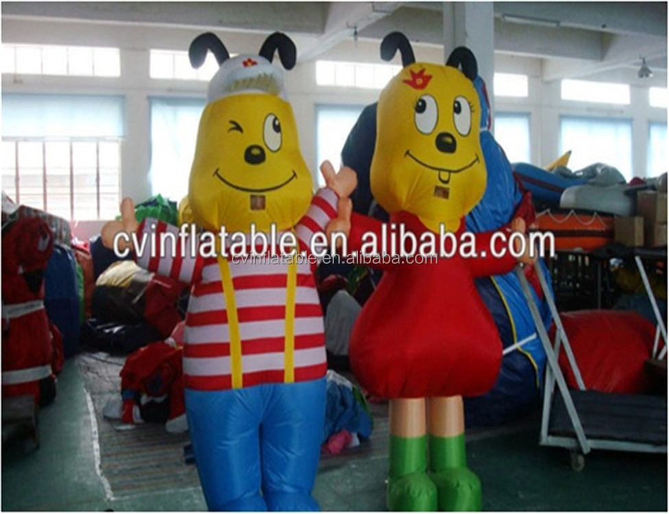 inflatable lovely dog mascot, inflatable moving cartoon character, walking inflatable mascot for advertising