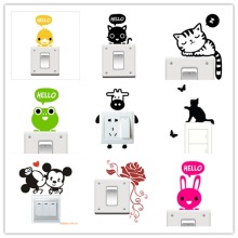 1pc Big Promotion Wholesale 20 Styles Cartoon Animal Eco Friendly Home Decoration Switch Sticker Wall Stickers for Kids Room