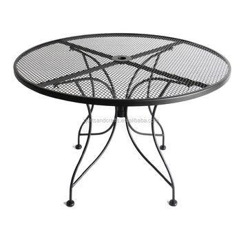 Wrought Iron Round Outdoor Garden Dining Table