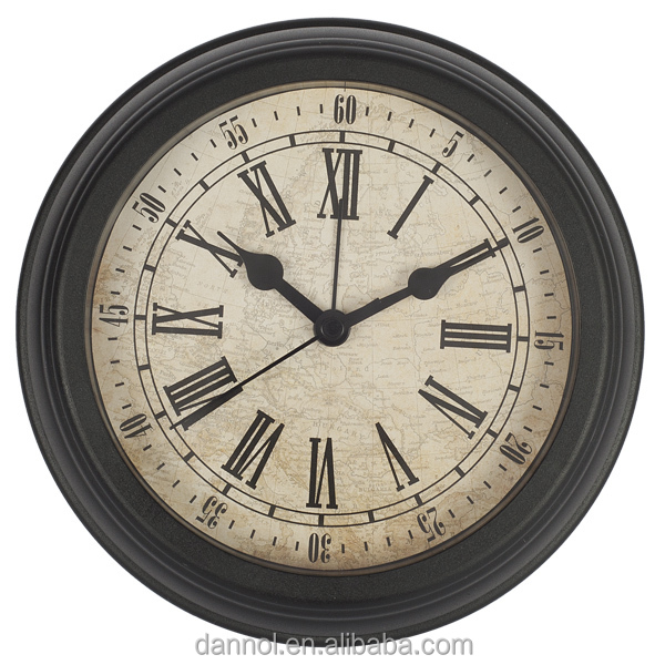 Guangzhou Dannol 6 inch wholesale the retro design cheap plastic small wall clock