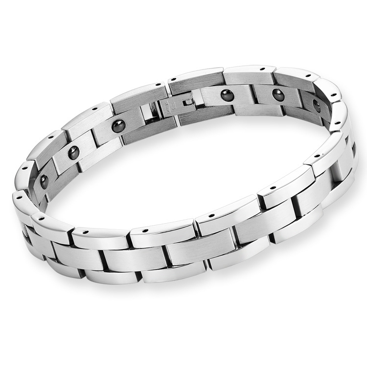 Stainless Steel Hematite Health Care Chains Bio <strong>Magnetic</strong> Quantum <strong>Bracelet</strong> <strong>Energy</strong> Elements Tungsten <strong>Bracelet</strong> For Men