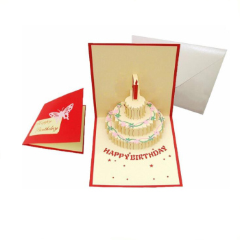 Handmade Sound Greeting Card 123 Birthday Wishes 3d
