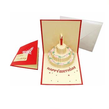 Handmade Sound Greeting Card 123 Birthday Wishes 3d
