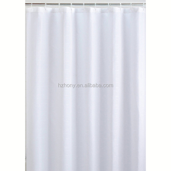 White Mildew Resistant Fabric 72x72inch Waterproof/Water Repellent Antibacterial Shower Curtain
