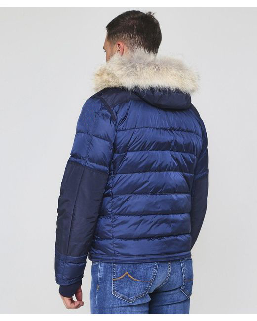wholesale warm hot-sale Men's Blue Down Quilted Skimaster Jacket
