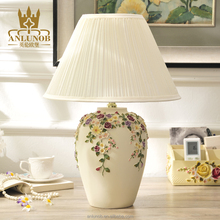 New prodect 2016 bedside lampshade resin table lamp lighting for home decoration