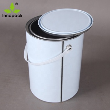 5L  liter paint metal tin cans with handle ans lid