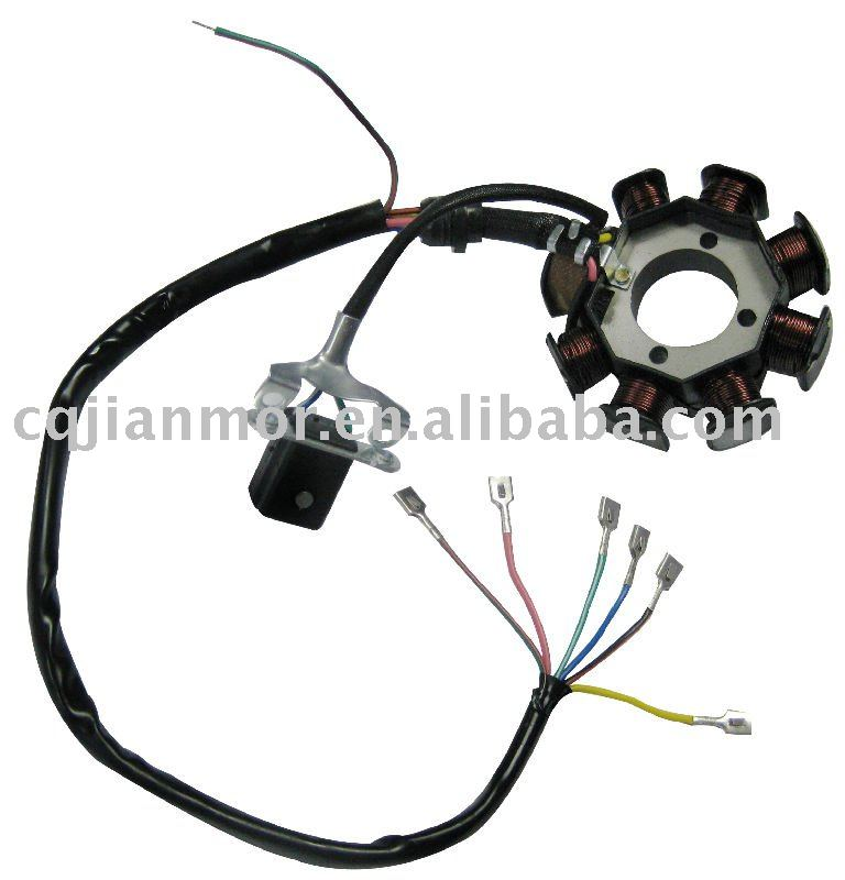8 pole oblique three hole magneto stator 8 pole(oblique three hole)magneto stator of motorcycle parts buy gy6 8 pole stator wiring diagram at bakdesigns.co