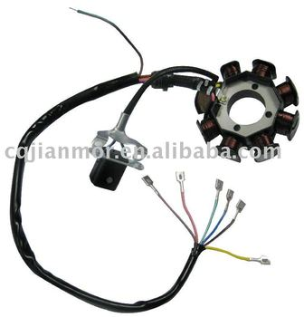 8 pole(oblique three-hole)magneto stator of motorcycle parts