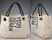 custom canvas rope handle beach bag wholesale