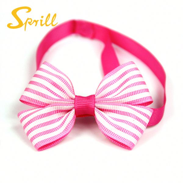 SPRILL Wholesale Pet Accessories Cute Dog Hair Bows & Pet Hair Bow Tie Cat Collar