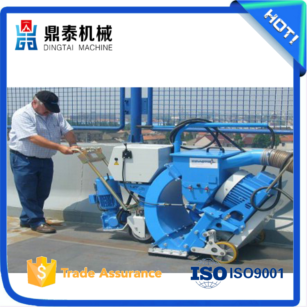 Movable road surface shot blasting machine for concrete, cleaning airport runway equipment