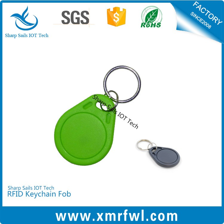 125 KHz contactless rfid key fob for staff identification