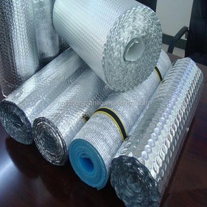 reflective sun shade material insulation materials for lunch bags ceiling Thermal silver foil uv resistant pipe insulation