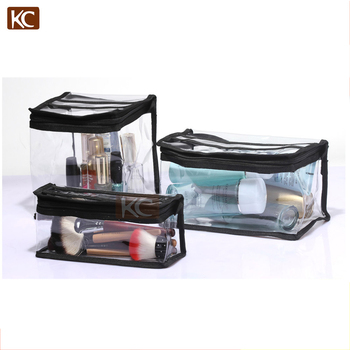 Factory wholesale custom transparent pvc new products cosmetic makeup bag