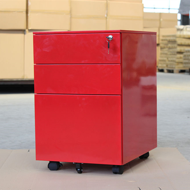 China Manufacturer Mobile Pedestal 3 Drawer Steel Drawer Cabinet for Sale