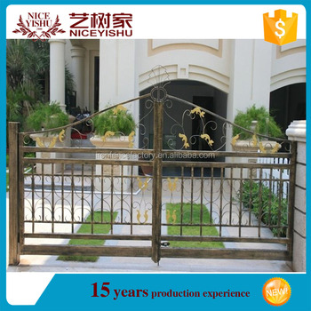 Modern Simple Iron Pipe Gate Design For Top Sale
