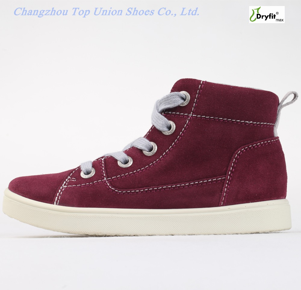 Latest new design top quality sharp sneakers fashion wine kid shoes PU injection waterproof shoes