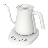 Electric Gooseneck Kettle with Temperature Presets -0.8L Electric Tea Pot Kettles - Stainless Steel Coffee Teapots Kettle