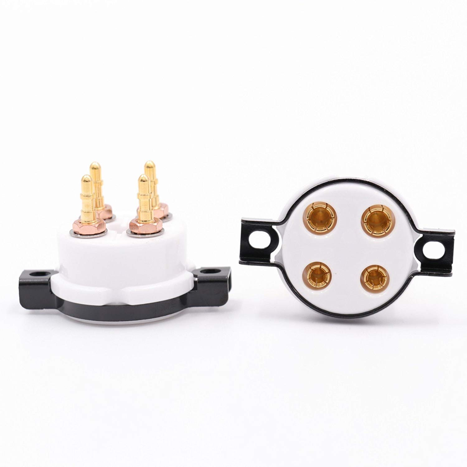 300b 2a3 For Large Four-leg Flat Gold-plated Tube Socket Free Shipping Electronic Components & Supplies