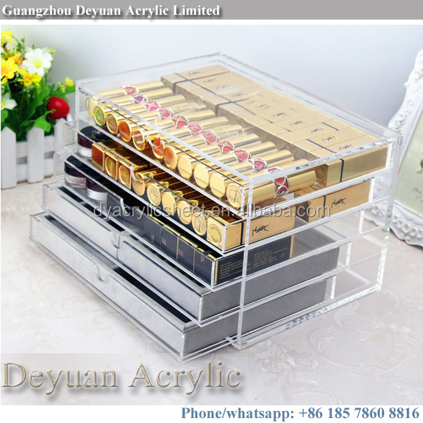 3 4 6 acrylic drawer plastic storage clear top quality