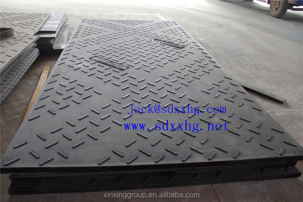 UHMWPE crane truck pad/ground protection mat/uhmw plastic walkways