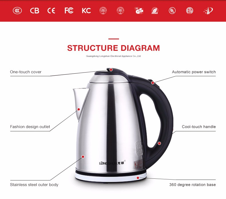 Electric Tea Kettles With Automatic Shut Off ~ Famous brand home appliances cordless electric tea water