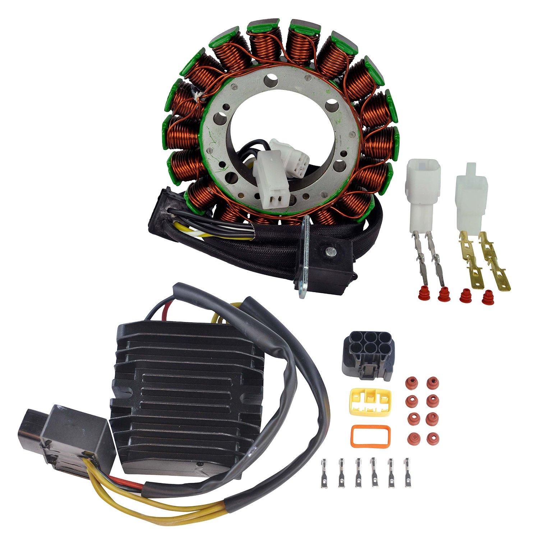 get quotations · kit stator + mosfet voltage regulator rectifier for arctic  cat 650 suzuki lta / ltf 400