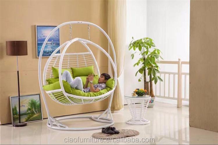 Iron Frame Indoor Circle Swing Chair Furniture - Buy ...