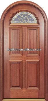 6 Panel Arch Top Wooden Doors Glass Inserts Dj S5520mr