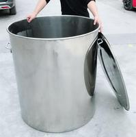 Stainless Steel Stock Pot Storage tank large bucket Large vessel can Customized Stainless steel bucket soup bucket With cover