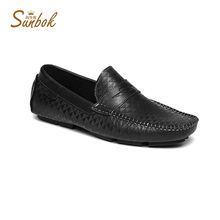 Sunbok classic Genuine semi formal tan dress shoes best casual leather shoes