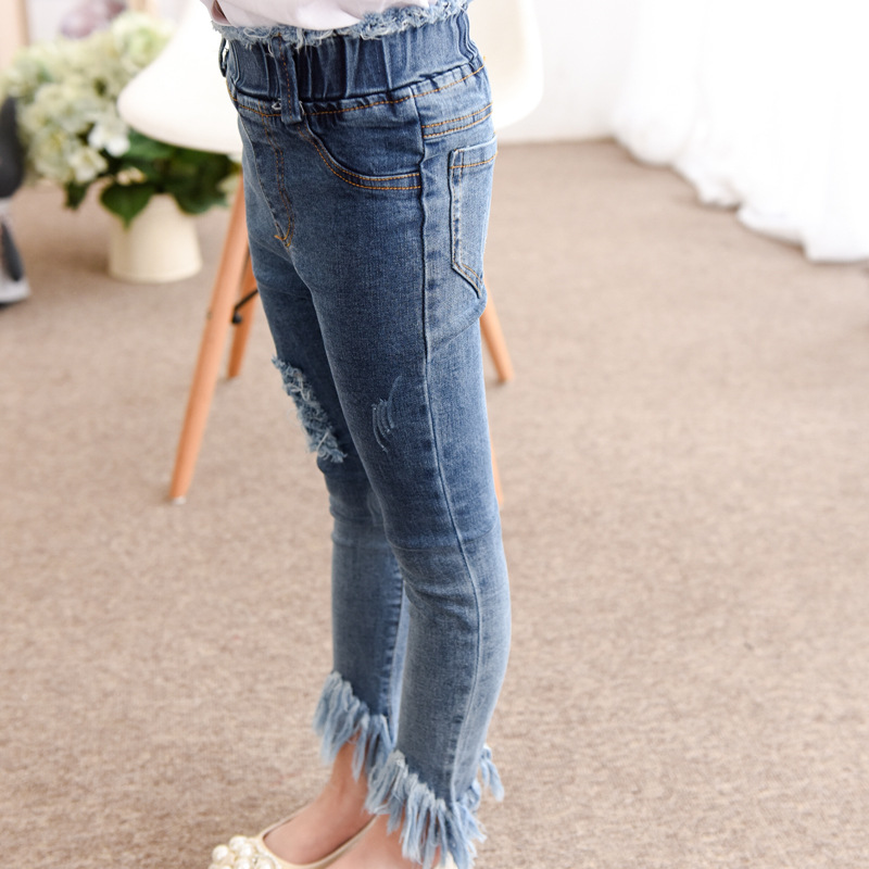 ZH03154B Autumn denim jeans baby clothes wholesale kids jeans
