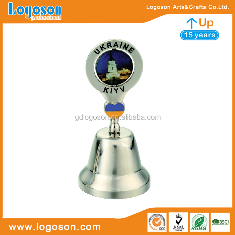 Ukraine Building Epoxy Dinner Bell With Rotating Tourist Decorative Metal Dinner Bell