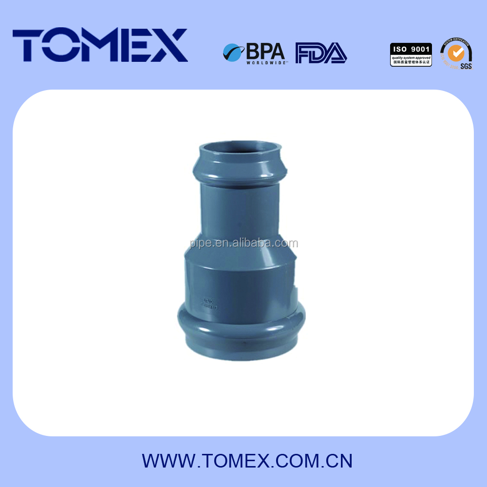 popular rubber ring for pvc pipe pvc pipe fitting reducer with rubber joints