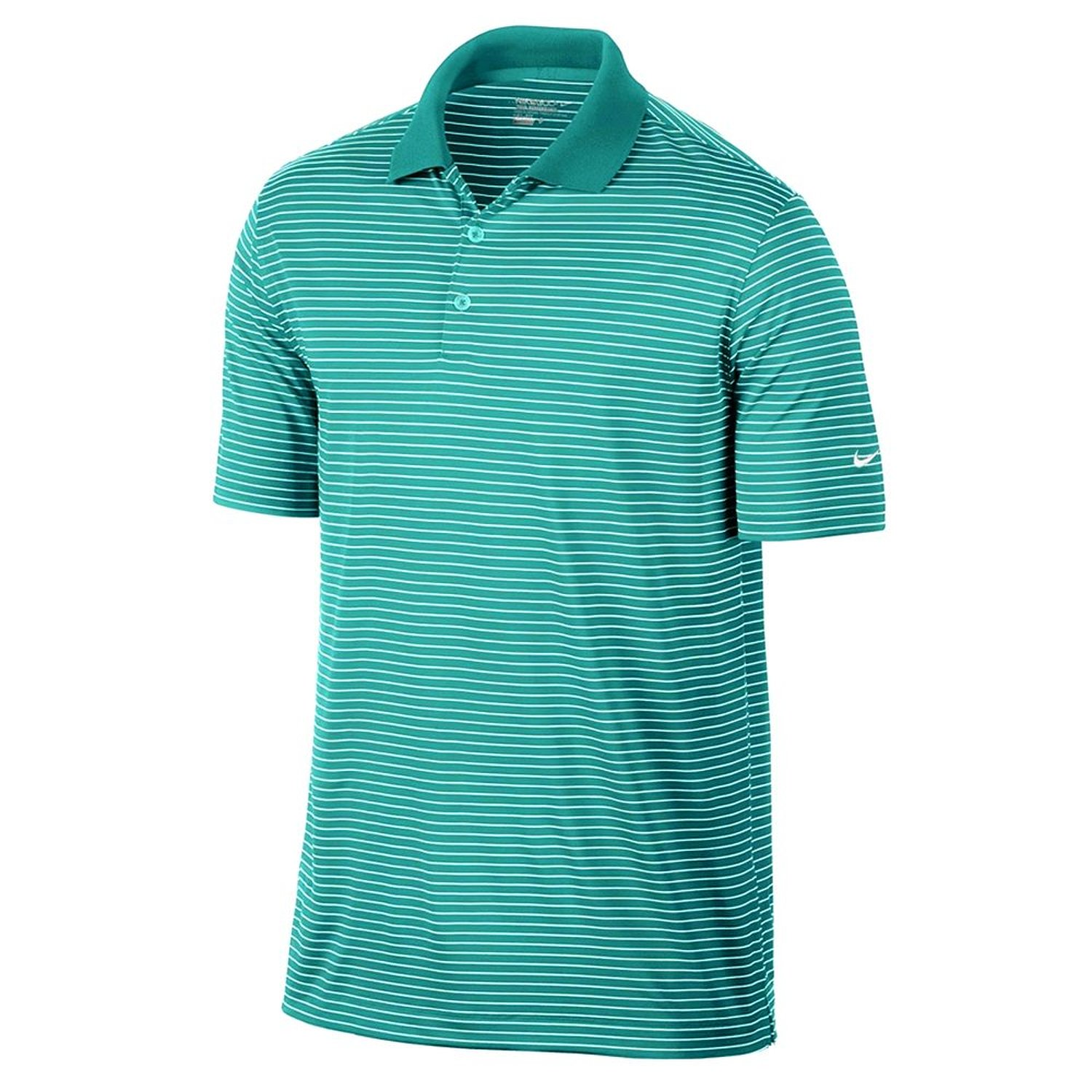 56f98316adce3 Buy Nike Golf Mens Victory Stripe Polo LT RETRO/WHITE in Cheap Price ...