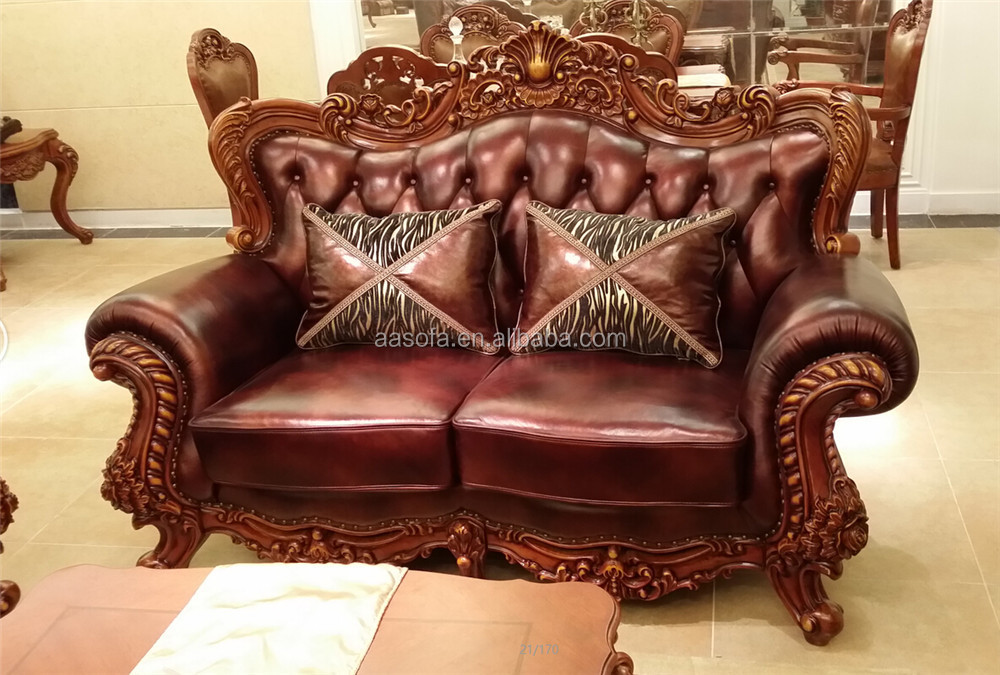classic italian antique living room furniture wooden sofa set designs