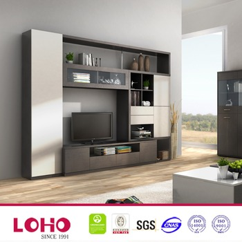 Wooden tv showcase designs entertainment wall unit buy - Wall showcase designs for living room ...