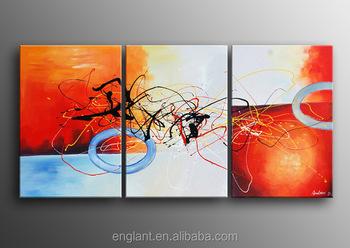 Moderne kunstwerken decoratie schilderen kleurrijke muur foto voor