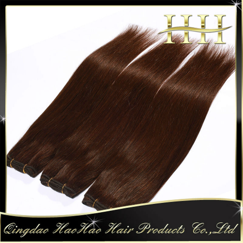 Qingdao HAO HAO #2#4#6#8 straight thick virgin brazilian hair 3 bundles